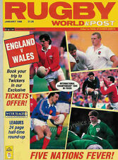 RUGBY WORLD MAGAZINE JANUARY 1988 - PERFECT GIFT FOR A FAN BORN IN THIS MONTH