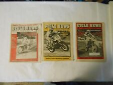 LOT OF 3 FEBRUARY 1983 CYCLE NEWS WEST NEWSPAPERS,ANAHEIM,GOLDEN STATE,HANNAH,