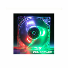 Evercool CLB-8025-LD1 80mm Fan w/ 3 Color LED (Blue,Green,Red)