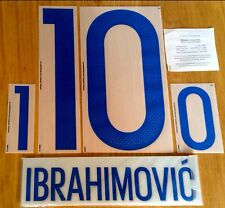 Sweden EURO 2016 Home Shirt IBRAHIMOVIC#10 OFFICIAL DekoGraphics Name Kit Set