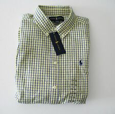 Ralph Lauren Boys Blake Seersucker Long Sleeve Shirt Yellow Multi Sz L - NWT