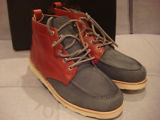 SEBAGO STASH MEN'S B10673 RED GREY SHOES BOOTS SIZE 7.5 - BRAND NEW - NWT
