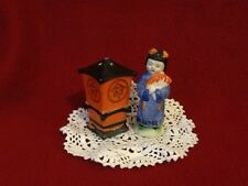 "Vintage ""Geisha"" salt made in Japan and ""Pagoda"" pepper made in occupied Japan"