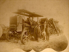 1900s CABINET PHOTO MARION OH NEW HUBER STEAM FARM TRACTOR & THRASHER