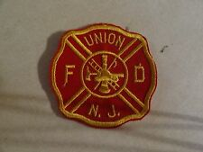 PATCH FIRE AND RESUE OLDER SEW ON UNION NEW JERSEY FIRE DEPARTMENT