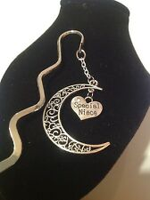 Special niece.. filligree book mark silver plated