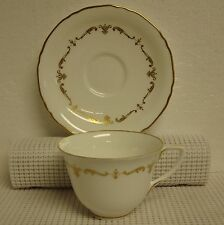 Royal Worcester GOLD CHANTILLY Cup & Saucer Set BEST! Multiple Available
