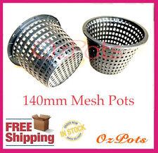 140mm Basket / Mesh / Net Plant Pots x 6pcs - Orchids / Vandaceous/ Hydroponics