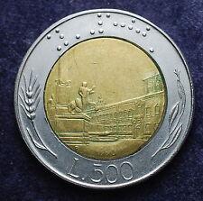 1990  Repubblica Italiana  500  lire   Varietà, millesimo evanescente