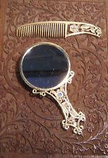 Spieglein, Spieglein in der Hand Taschen Spiegel Schmetterling + Kamm Set