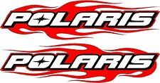 "Polaris snowmobile flame 2 sticker decal set 2.5"" x 11"" each"