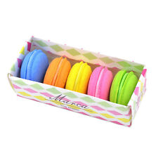 5pcs/lot Fashion Cute Macarons Colors Rubber Pencil Eraser Sweet Stationery Set