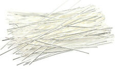 500 Silver Plated Headpins 21 Gauge 3 Inch