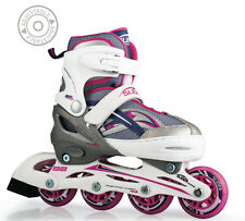 Blade X Slider White / Pink Adjustable Recreational Inline Skates Sizes 5 - 8