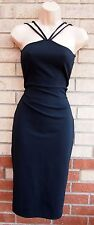 OH MY LOVE BLACK STRAPPY SEXY QUILTED PENCIL TUBE BODYCON PARTY RARE DRESS XS 6