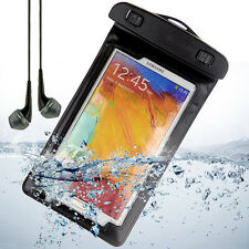 100% Waterproof Pouch Dry Bag Armband Case for Samsung Galaxy Note 4 3 +Earphone