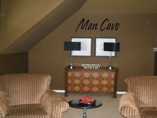 MAN CAVE Quote Decal Wall Words Lettering Wall Art Garage Loft Sticker
