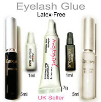 Best BLACK WHITE False Eyelash Fake Lash Glue Adhesive | LATEX FREE | UK Seller
