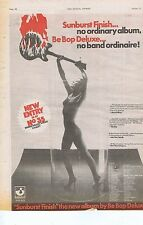 BE BOP DELUXE press clipping 1976 30x40cm (31/1/76)