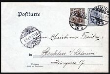 sc# Gov't P.C.(Germany) 2pf and 3pf. Berlin to Strehlen. 1906.