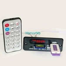 DC 5V/12v Digital LED mp3 decoder + IR Remote control usb SD FM Radio FOR CAR