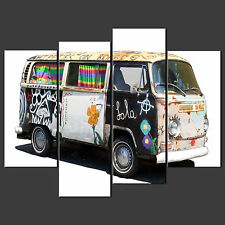 GRAFFITI VW CAMPER CANVAS WALL ART PICTURES PRINTS DECOR LARGER SIZES AVAILABLE