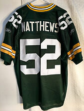Reebok Authentic ONFIELD NFL Jersey GREEN BAY Packers Clay Matthews Green sz 52