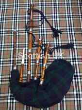 SCOTTISH GREAT HIGHLAND BAGPIPE ROSE WOOD FULL SET/GAITA/DUDELSACK/BAGPIPES