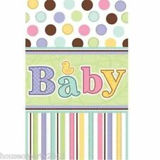 Baby Shower Tablecover Party Tableware Plastic Tablecloth boy girl Tiny Bundle