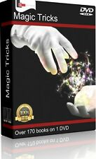 MAGIC TRICKS & ILLUSIONS - 175 RARE BOOKS - DVD - COINS CARDS MAGICIAN CONJURING