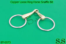 "Copper Loose Ring Horse Snaffle Bit English Western 4.5"" 65mm Ring Size,BT-0073"