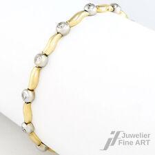 Armband 585/14K Gelbgold/Weißgold - Brillanten ca. 1 ct TW/SI-P - 10,9g - 17,5cm