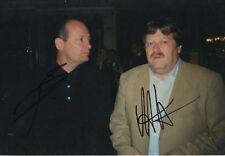 Ron Dennis und Norbert Haug Autogramme 20x30 cm Bild