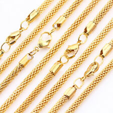 Hot Gold Silver Hollow Out Snake Chain Lobster Clasp Necklace Finding 450x3MM
