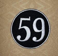 59 Club Rockers Cafe Racer Ton Up Biker Iron/ Sew-on Embroidered Patch/ Logo