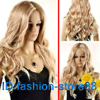 Fashion Long Mixed Blonde Wavy Heat Resistant Cosplay Full Hair Wig/Wigs