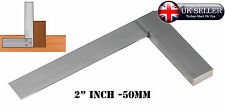 """2"""" inch 50mm STEEL TRY SQUARE PRECISION RIGHT ANGLE MEASURE Engineer's Squares"""