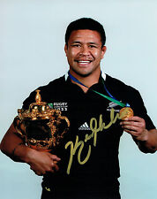 Keven MEALAMU New Zealand Rugby World Cup Signed Autograph Photo AFTAL COA
