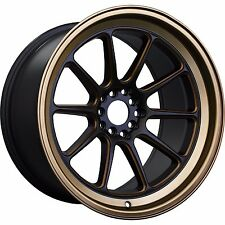 XXR 557 17x8 5x100 5x114.3 +35 Matte Black Bronze FRS BRZ Civic RSX TSX ACCORD