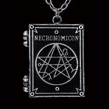Restyle NECRONOMICON BOOK plasmato CIONDOLO COLLANA. H.P Lovecraft. OCCULTISMO simboli.
