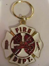 Stained Glass Style, Fire Department Key Chain