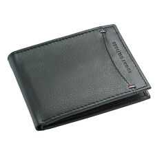 Tommy Hilfiger 31HP130004 Men's Pebbled Black Leather Billfold Wallet