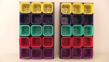 SET OF 30 COLOURED 7CM LIGHTWEIGHT POTS WITH CARRY TRAYS COLOUR SEED POT NEW