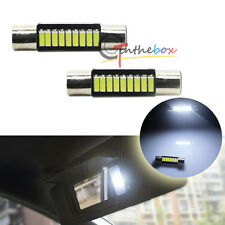 2pcs HID White Car Vanity Mirror Lights Sun Visor Lamp 9-SMD-4014 6614F LED Bulb
