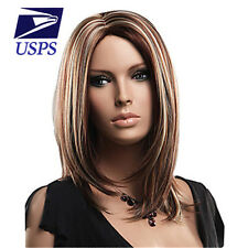 Hot Sale Straight Brown & Blonde Mix Long Cosplay Women Natural Full Hair Wigs