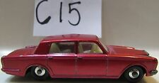 MATCHBOX LESNEY ROLLS ROYCE SILVER SHADOW #24 RED - MADE IN ENGLAND LOOSE