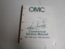 omc johnson evinrude commercial outboard motor service manual 65 100 155 1984