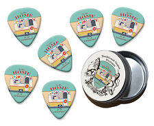 Home Caravan Martin Wiscombe 6 X Guitar Picks In Tin Vintage Retro