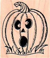 NEW NORTHWOODS RUBBER STAMPS Halloween Pumpkin carved mounted free usa ship