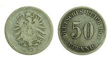 pcc1136_11) Germany Deutsches Reich 50 Pfennig 1875 D D